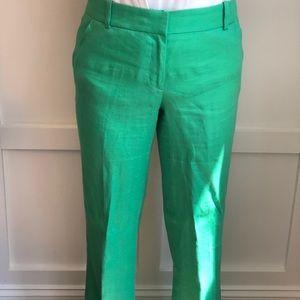 JCrew green linen pants